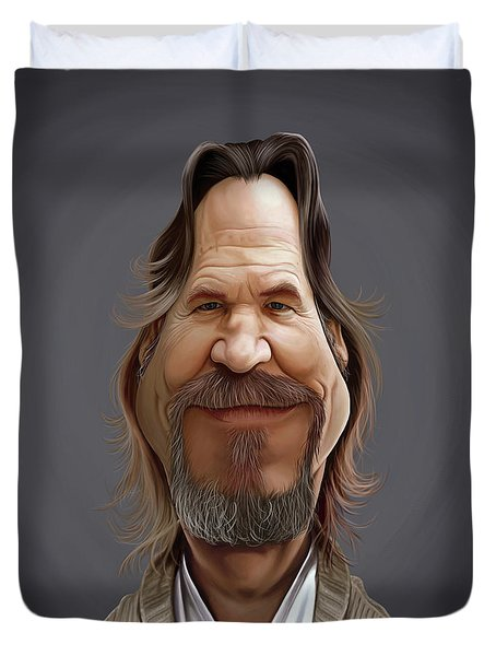 Celebrity Sunday - Jeff Bridges Duvet Cover