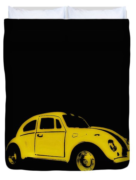 Yellow Bug Duvet Cover