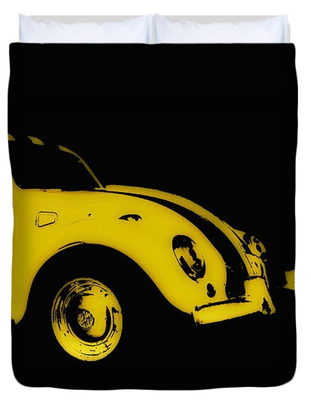 Yellow Bug Duvet Cover