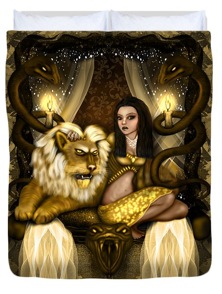 The Serpent Gateway Fantasy Art Duvet Cover