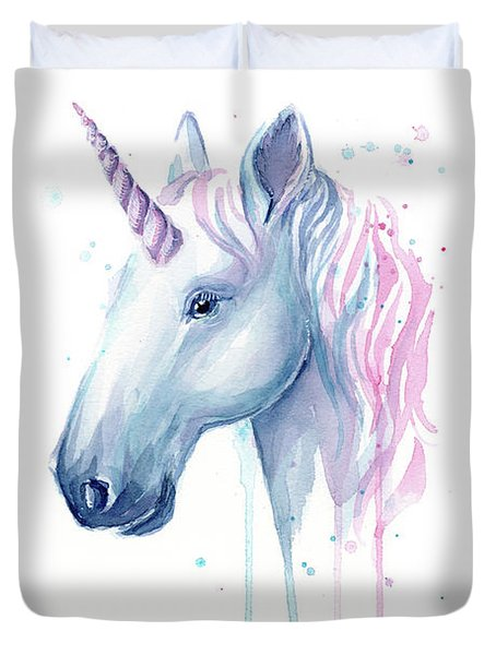 Cotton Candy Unicorn Duvet Cover