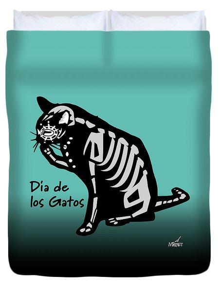 Dia De Los Gatos Duvet Cover