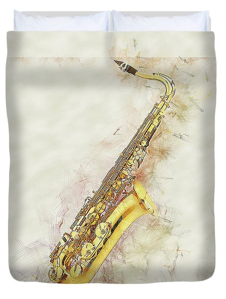 Cool Saxophone Duvet Cover