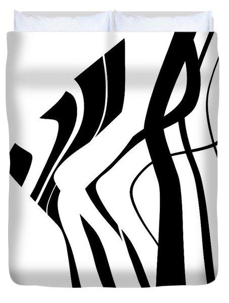 Organic No 4 Black And White Duvet Cover