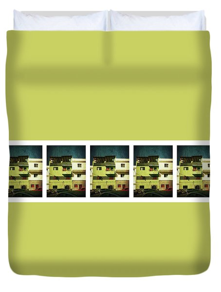 Duvet Cover featuring the photograph Alcala, Another Green House by Anne Kotan