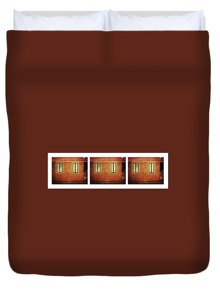 Duvet Cover featuring the photograph Alcala, Orange House by Anne Kotan