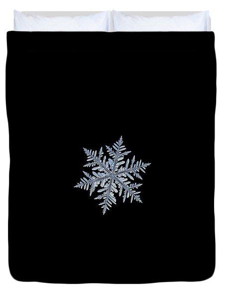 Real Snowflake - Silverware Black Duvet Cover