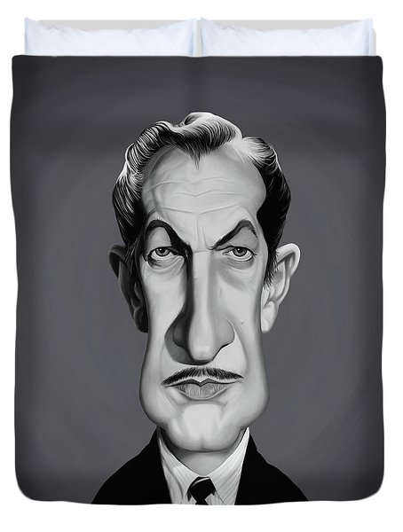 Celebrity Sunday - Vincent Price Duvet Cover