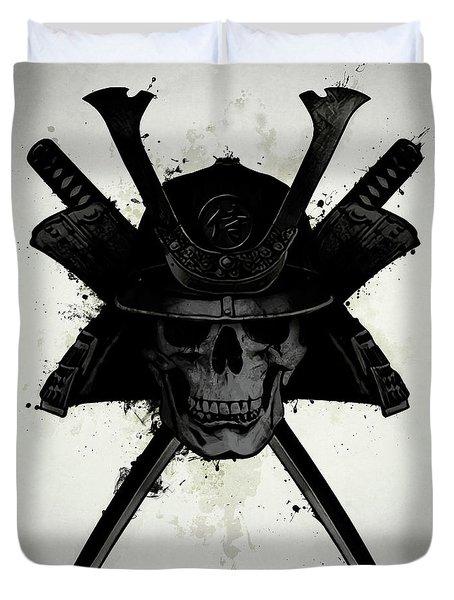 Samurai Skull Duvet Cover