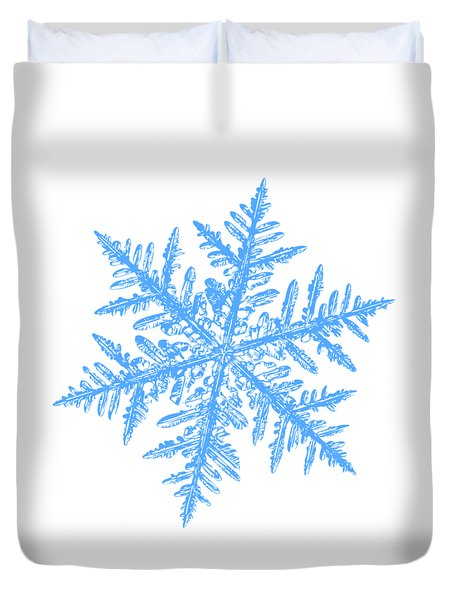 Snowflake Vector - Silverware White Duvet Cover