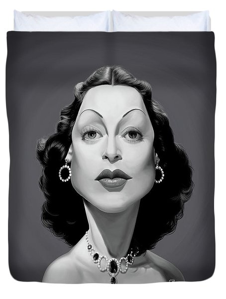 Celebrity Sunday - Hedy Lamarr Duvet Cover