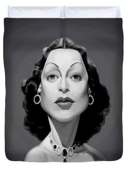 Celebrity Sunday - Hedy Lamarr Duvet Cover