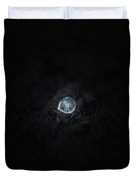 Drop Of Ice Rain Duvet Cover