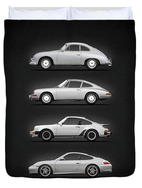 Evolution Of The 911 Duvet Cover
