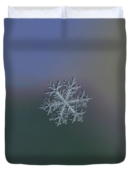 Real Snowflake - Hyperion Dark Duvet Cover