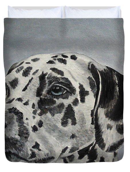 Dalmatian Portrait Duvet Cover