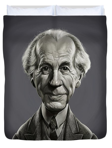Duvet Cover featuring the digital art Celebrity Sunday - Frank Lloyd Wright by Rob Snow