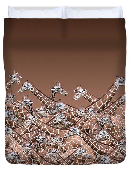 Sea Of Giraffes Duvet Cover