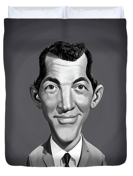Duvet Cover featuring the digital art Celebrity Sunday - Dean Martin by Rob Snow