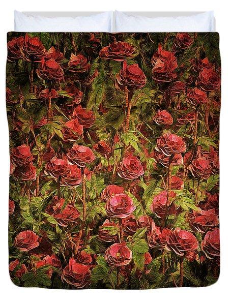 Cardinal Richelieu Roses Duvet Cover
