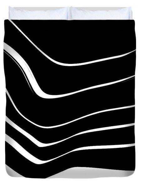 Organic No. 10 Black And White #minimalistic #design #artprints #shoppixels Duvet Cover