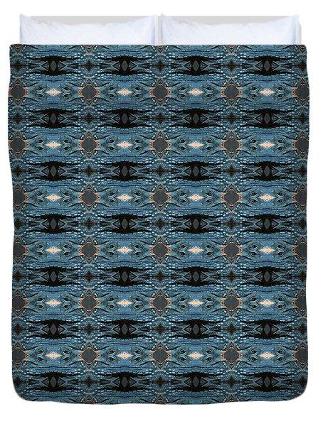 Blue Iguana Duvet Cover
