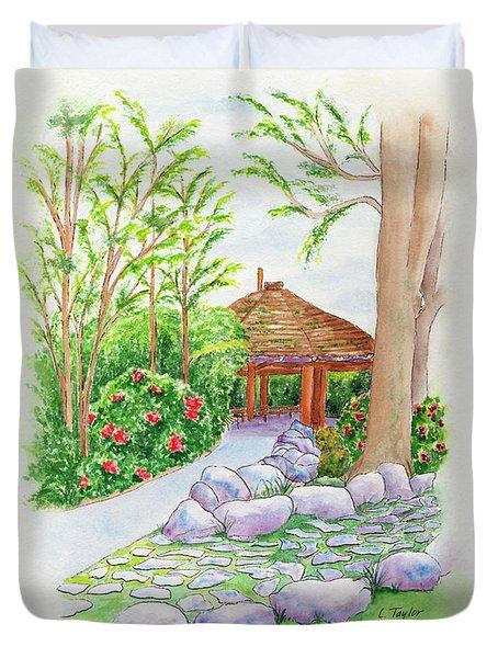Pavilion Pathway Duvet Cover
