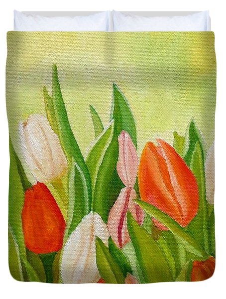 Colors Of Spring Duvet Cover