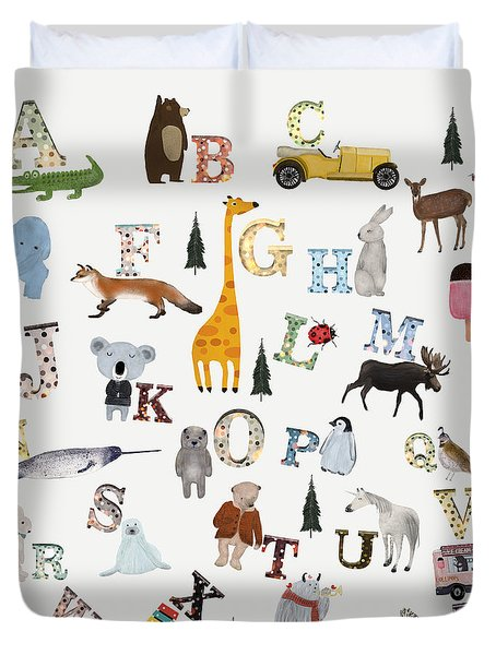 Little Nature Alphabet Duvet Cover