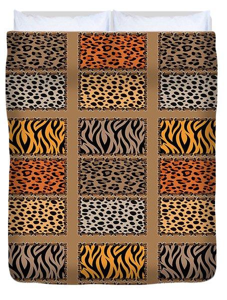Wild Cats Patchwork Duvet Cover