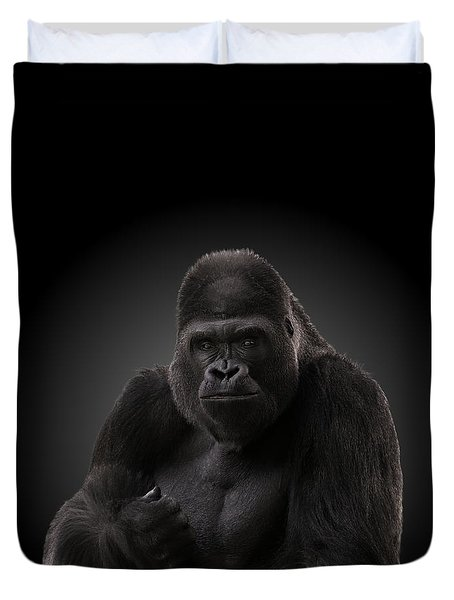 Hey There - Gorilla Duvet Cover