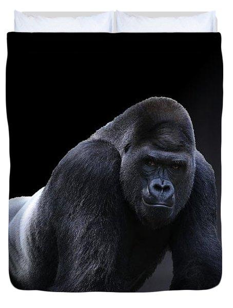 Strong Male Gorilla Duvet Cover