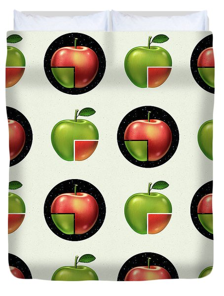 Divided Apple Pattern Duvet Cover