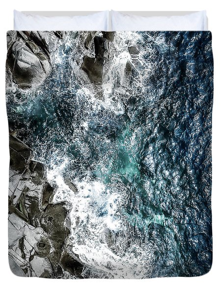Skagerrak Coastline - Aerial Photography Duvet Cover