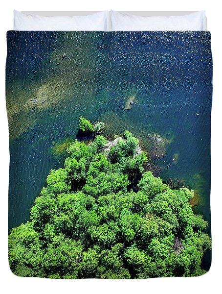 Archipelago Island - Aerial Photography Duvet Cover