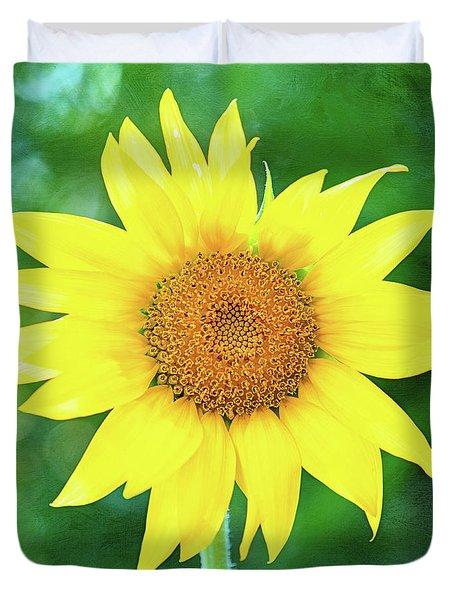 Volunteer Sunflower  Duvet Cover