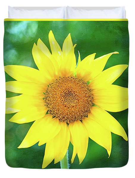 Volunteer Sunflower  Duvet Cover