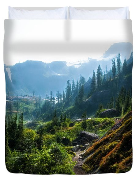 Trail In Mountains Duvet Cover