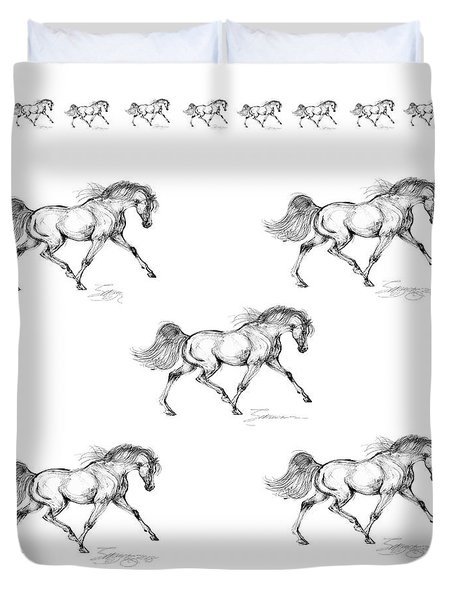 Endurance Horse Duvet Cover