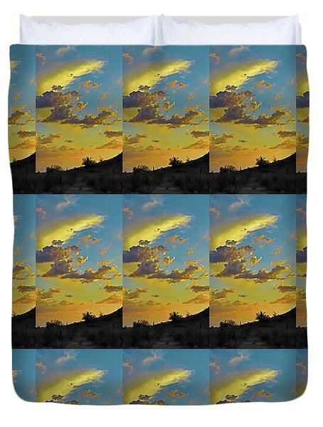 Y Cactus Sunset 10 Duvet Cover