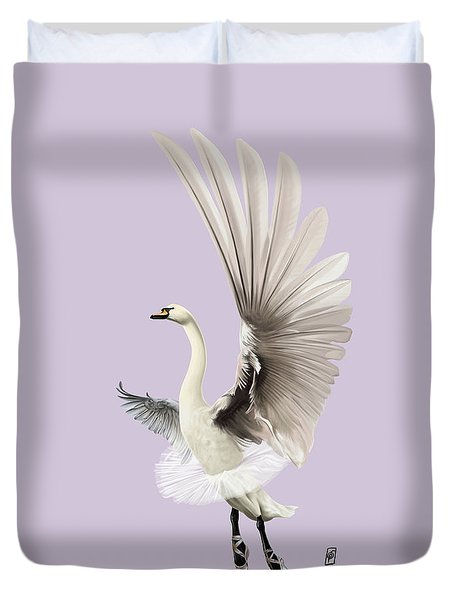 Duvet Cover featuring the digital art Lake Colour by Rob Snow