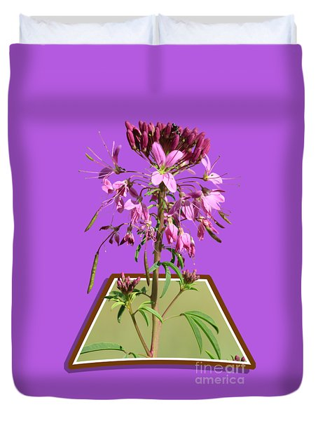 Rocky Mountain Bee Plant Duvet Cover