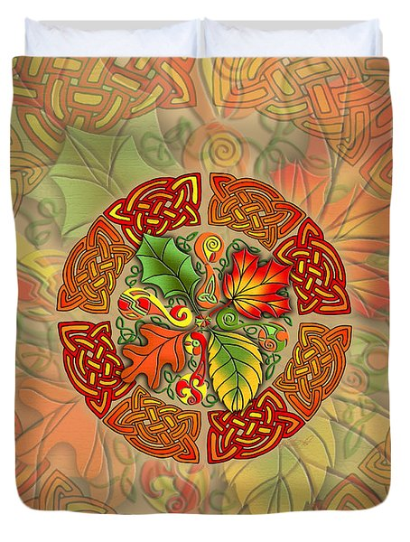 Celtic Autumn Leaves Duvet Cover