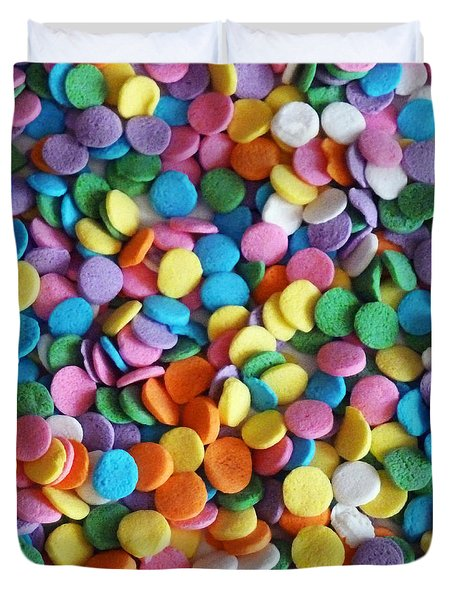 Sugar Confetti Duvet Cover by Methune Hively