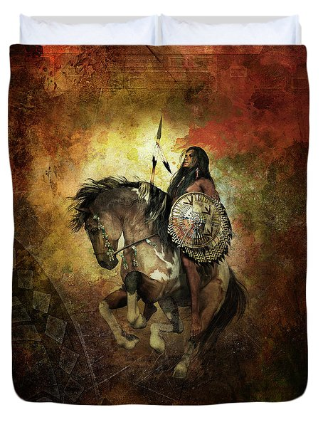 Warrior Duvet Cover by Shanina Conway