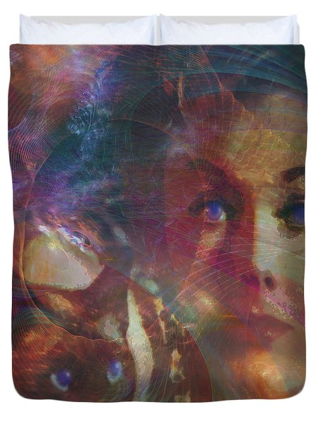 Pyewacket And Gillian Duvet Cover