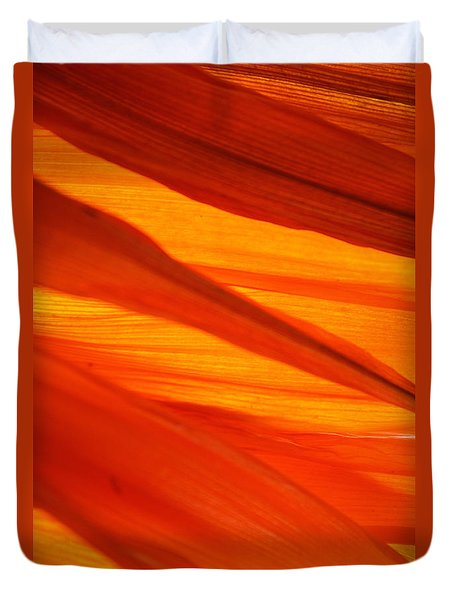 Duvet Cover featuring the photograph Orange Sunshine by Bobby Villapando