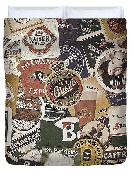 Beers Of The World Duvet Cover