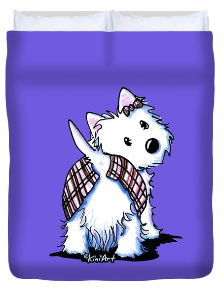 Dressed To Kilt Westie Duvet Cover