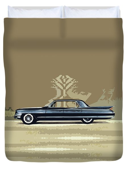 1961 Cadillac Fleetwood Sixty-special Duvet Cover